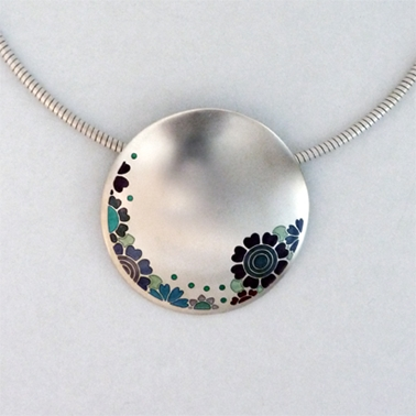 Large circle pendant contemporary necklaces pendants by large circle pendant mozeypictures Image collections