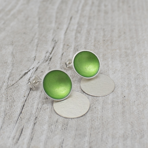 Grass Enamel Stud with Drop