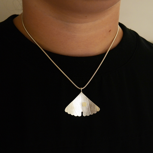 Ginkgo pendant on Millie