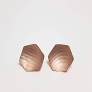 Rose polygon earring