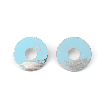 Large Washer Studs Aqua