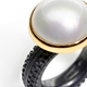 Large Round Mabe Pearl Ring