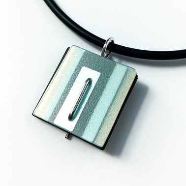 Pale blue and cream pendant
