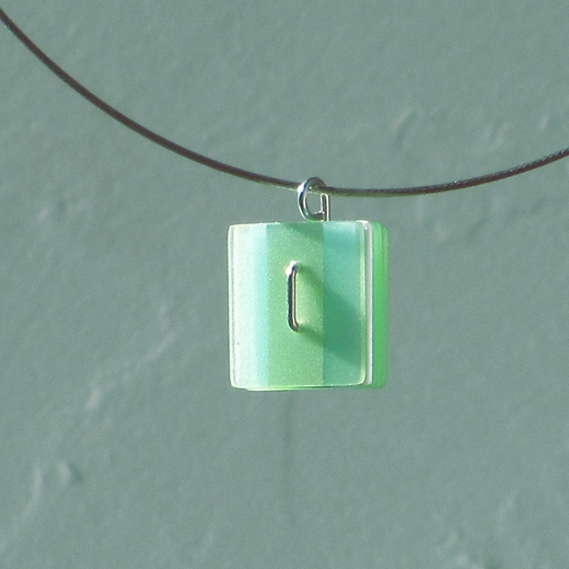 small pale green pendant