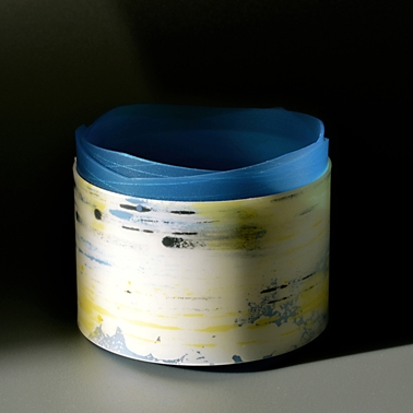 bangle with blue edge