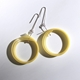 Large loop earrings in yellow