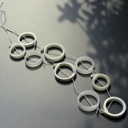 white and cream loops necklace