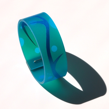 Green and turquoise bangle, main image