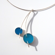 Blue double circle pendant, main image