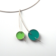 green double circle pendant, main image