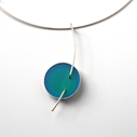 Large blue and green pendant, main image