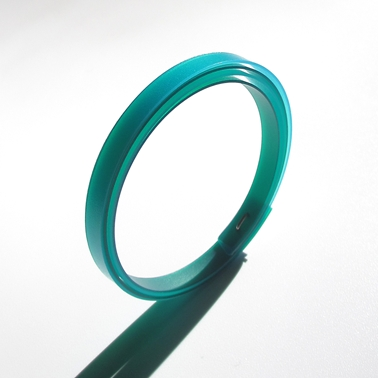 thin blue and green bangle