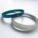 two bangles showing thin blue and green bangle