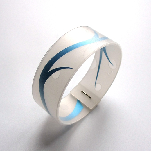 blue and white bangle