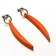 Orange Small Luna Drop Earrings