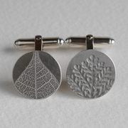 Leaf and fern cufflinks