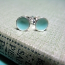 Light Turquoise Tiny Stud