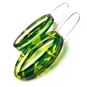 Green & Yellow Madder Oval Earrings