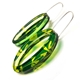 Green & Yellow Madder | Oval Earrings | Recycled Perspex