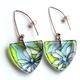 Lime star leaf tri earrings