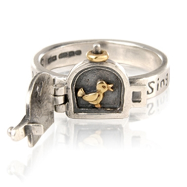 Fabulous Little bird singing, opening ring | Contemporary Rings by  ET91