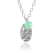 Catkin Pendant with Chrysoprase