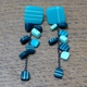 large turquoise blue 'bitty' earrings