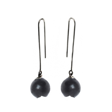 Long black drop earrings