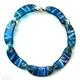 Blue long chain grass collar