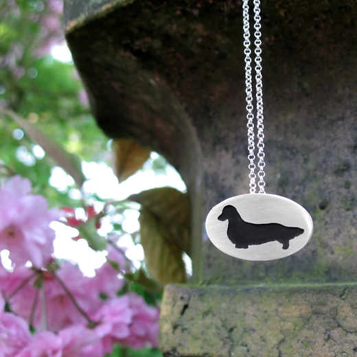 Long Haired Dachshund Pendant