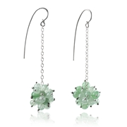 Long Berries Drop Earrings with Aventurine