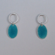 Loop and Deep Turquoise oval earring