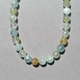 Aquamarine Necklace - bead detail.