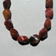 Chunky Carnelian Necklace - bead detail