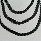 Onyx triple strand necklace - bead detail.