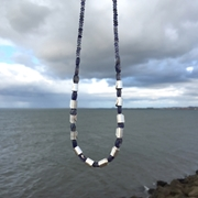 iolite rolled wave necklace