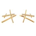 Chunky Rutile Studs - 18ct yellow gold and diamonds.
