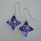 Star Hoop Earrings Blue/purple scrolls