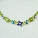 Peridot Necklace 7 drops