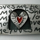 love me, love me not brooch, detail