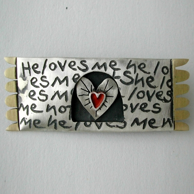 love me,love me not brooch