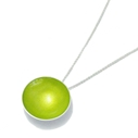 Lime Large Enamel Pendant