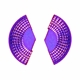 Purple Helio Earrings