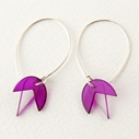 magenta bud earrings