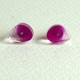 magenta shoreline earrings