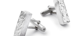 Hammered Bar Cufflinks by Gilly Langton