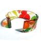 Meadow Floral 25mm Cuff (front open)