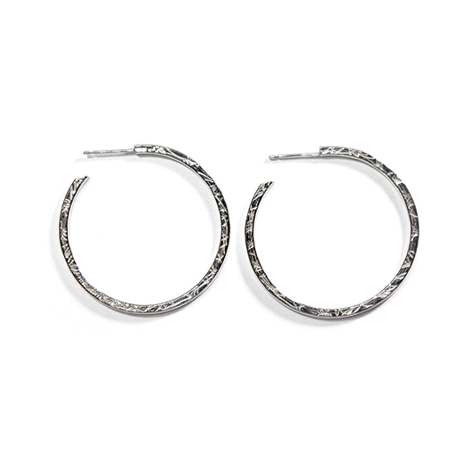 French Knit Imprinted Hoops