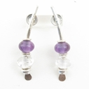 medium amethyst arc earrings