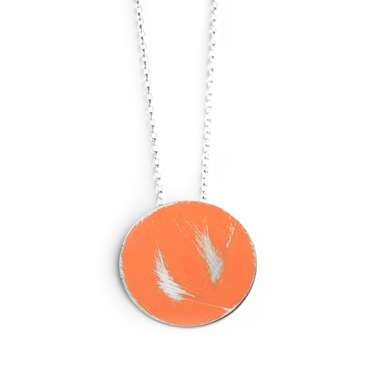 Medium Buoy Necklace in Orange